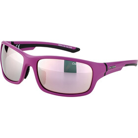 Alpina Lyron S Okulary, purple matt-black/rose-gold mirror